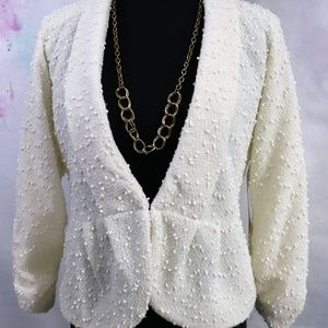 Erin London Ivory Jacket - Size PS - NWT
